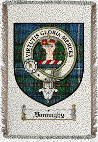 Donnaghy Clan Badge Throw Blanket