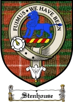 Stenhouse Clan Badge / Tartan FREE preview