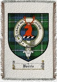 Berrie Clan Badge Throw Blanket