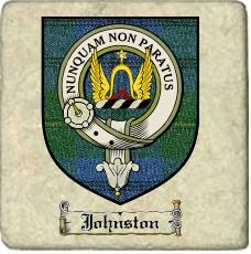 Johnston Clan Badge Marble Tile