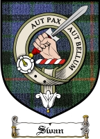 Swan Clan Macqueen Clan Badge / Tartan FREE preview