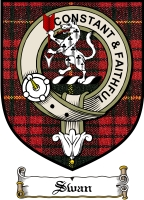 Swan Clan Badge / Tartan FREE preview