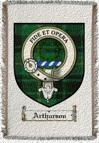 Arthurson Clan Badge Throw Blanket