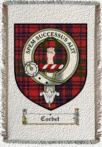 Corbet Clan Badge Throw Blanket