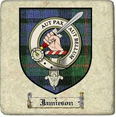 Jamieson Clan Badge Marble Tile