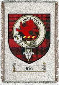 Fife Clan Badge Throw Blanket