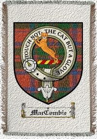 Maccombie Clan Badge Throw Blanket