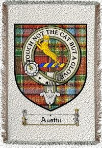 Austin Clan Badge Throw Blanket
