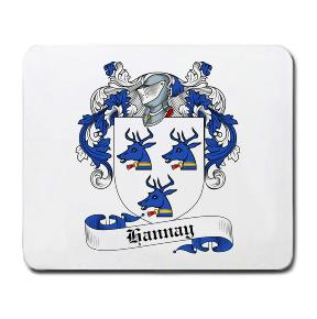 Hannay Coat of Arms Mouse Pad
