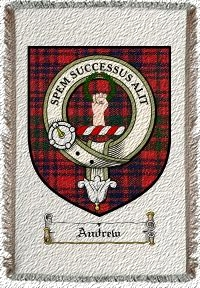 Andrew Clan Ross Clan Badge Throw Blanket