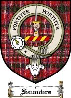 Saunders Clan Macdonnell Clan Badge / Tartan FREE preview