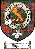 Thoms Clan Macthomas Clan Badge / Tartan FREE preview