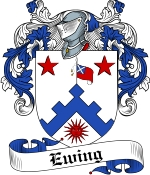 Ewing Family Crest / Ewing Coat of Arms JPG Download