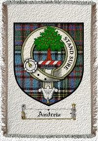 Andrew Clan Badge Throw Blanket