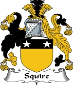 Squire Family Crest / Squire Coat of Arms JPG Download