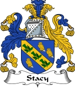 Stacy Family Crest / Stacy Coat of Arms JPG Download