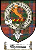 Thomson Clan Macthomas Clan Badge / Tartan FREE preview