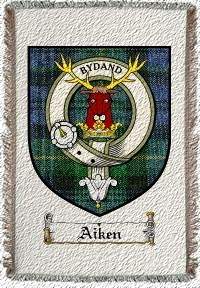 Aiken Clan Badge Throw Blanket