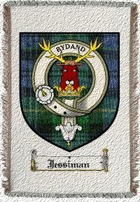 Jessiman Clan Badge Throw Blanket