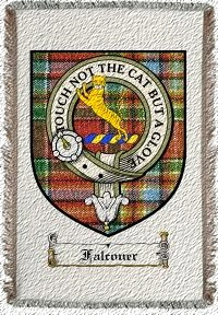 Falconer Clan Badge Throw Blanket