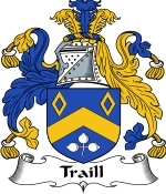 Traill Family Crest / Traill Coat of Arms JPG Download
