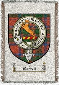 Tarrell Clan Badge Throw Blanket