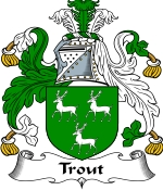 Trout Family Crest / Trout Coat of Arms JPG Download