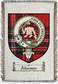 Allanson Clan Macfarlane Clan Badge Throw Blanket