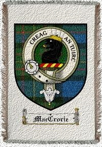 Maccrorie Clan Maclaren Clan Badge Throw Blanket