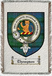 Thompson Clan Macthomas Clan Badge Throw Blanket
