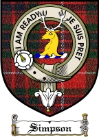 Simpson Clan Badge / Tartan FREE preview