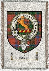Esson Clan Mackintosh Clan Badge Throw Blanket
