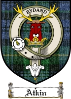 Atkin Clan Badge / Tartan FREE preview