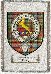 Urry Clan Badge Throw Blanket