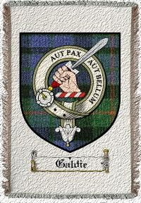 Galdie Clan Badge Throw Blanket