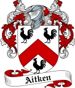 Aitken Family Crest / Aitken Coat of Arms JPG Download