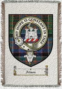 Alison Clan Macdonald Clanranald Clan Badge Throw Blanket