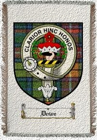 Dowe Clan Badge Throw Blanket
