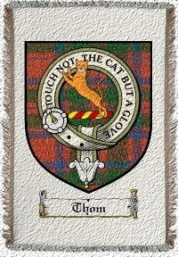 Thom Clan Badge Throw Blanket