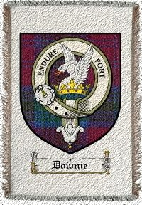 Downie Clan Badge Throw Blanket