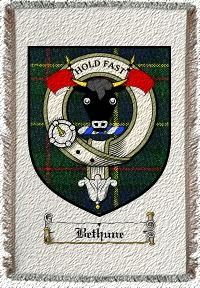Bethune Clan Macleod Clan Badge Throw Blanket