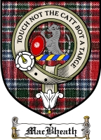 Macbheath Clan Maclean Clan Badge / Tartan FREE preview