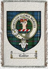 Collier Clan Badge Throw Blanket