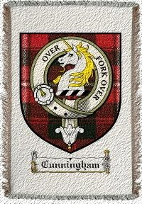 Cunningham Clan Badge Throw Blanket