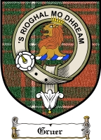 Gruer Clan Badge / Tartan FREE preview