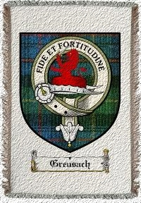 Greusach Clan Badge Throw Blanket