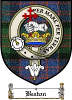 Beaton Clan Maclean Clan Badge / Tartan FREE preview