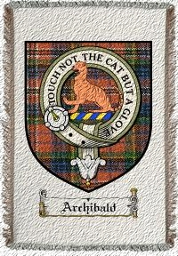 Archibald Clan Badge Throw Blanket