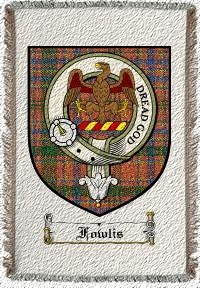 Fowlis Clan Badge Throw Blanket
