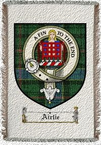 Airlie Clan Badge Throw Blanket
